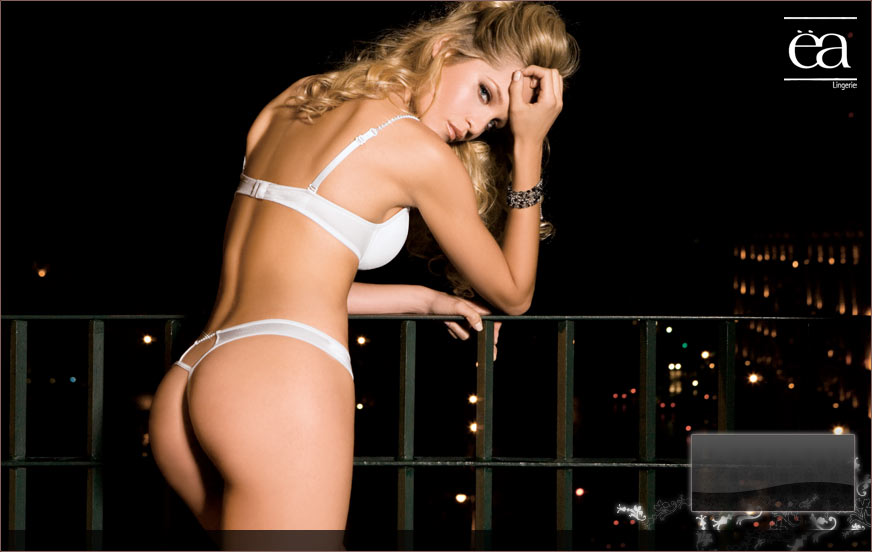 Beautiful Blonde with White Thong