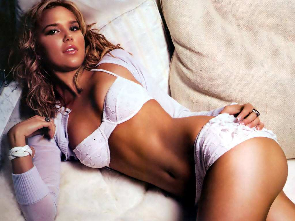 Sexy Pose in White Lingerie