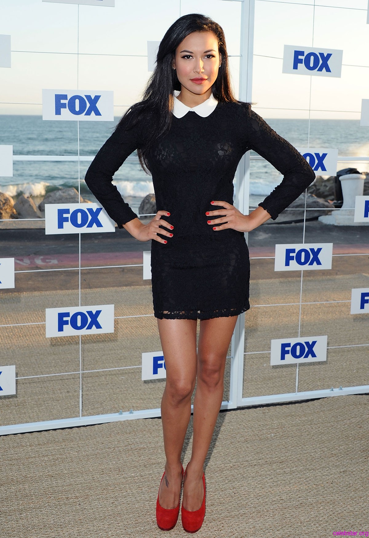 Naya-Rivera-dress-Fox-All-Star-party