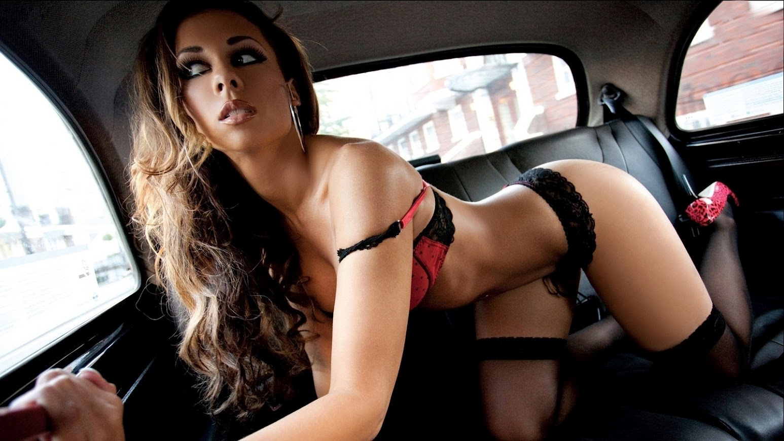 Sexy Lingerie in a Car