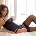 Irina Sheik Lovely Black Corset, Panties and Stockings